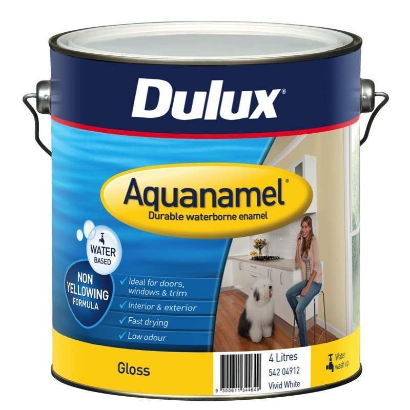 Dulux Aquanamel Gloss Vivid White 4L