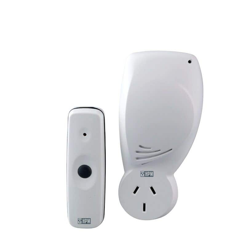 HPM Wireless Piggyback Socket Door Chime