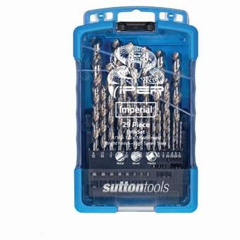 Sutton Tools Viper Jobber Drill Bit Set Imperial - 29 Piece