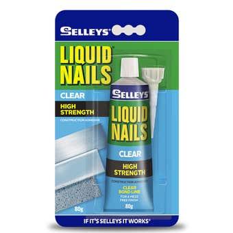 Selleys Liquid Nails Clear Adhesive 80g