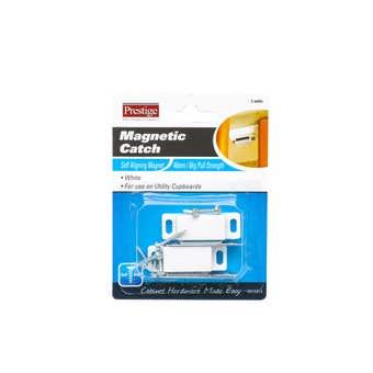 Prestige Magnetic Catch Heavy Duty White 6kg - 2 Pack