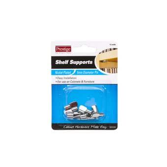 Prestige Flat Shelf Supports Nickel Plated 5mm - 12 Pack