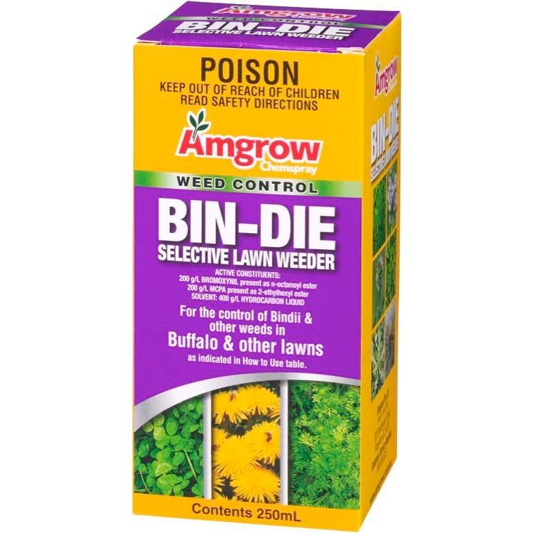Amgrow Bin-Die Selective Lawn Weeder Concentrate 250mL