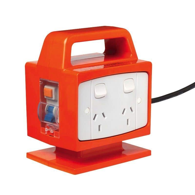 Arlec Portable Power Block With Safety Switch 4 Outlet