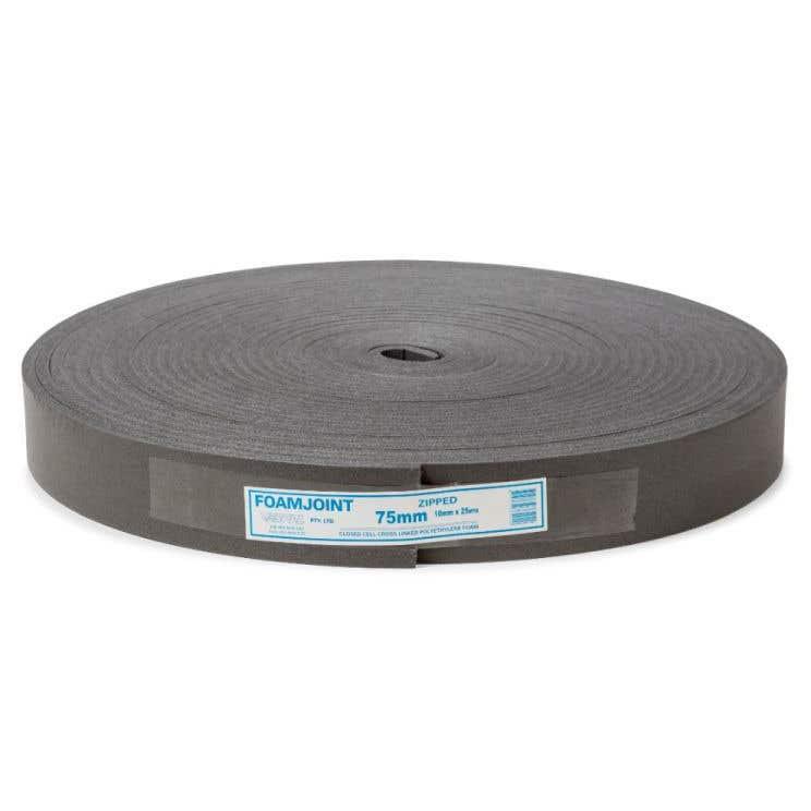 Polyethylene Foam Expansion Jointing 75mm x 10mm x 25m