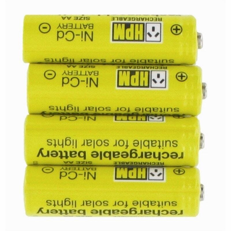 HPM Solar Rechargeable Batteries - 4 Pack