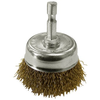 Josco Brumby Spindle-Mounted Cup Brush 50mm