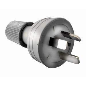 HPM 10A 3 Pin Plug Top Grey
