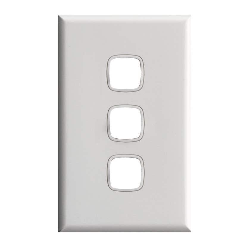 HPM 3 Gang Switch 240Vac 10A White