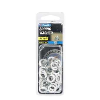 """Zenith Spring Washer Zinc Plated 5/16"""" - 40 Pack"""
