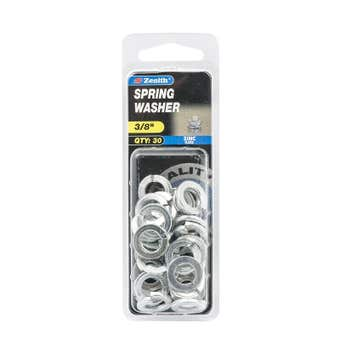"""Zenith Spring Washer Zinc Plated 3/8"""" - 30 Pack"""
