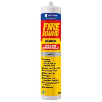HB Fuller Firesound Acoustic Silicone Sealant Grey 450g