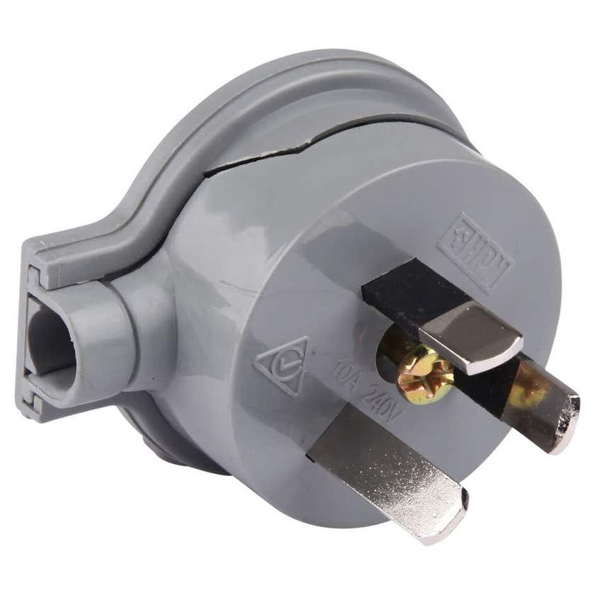 HPM PVC 10A Side Entry Plug Top Grey