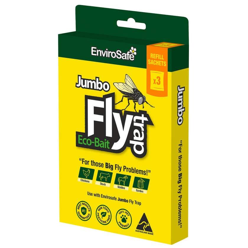 EnviroSafe Jumbo Fly Trap Eco-Bait Refill 3 Pack
