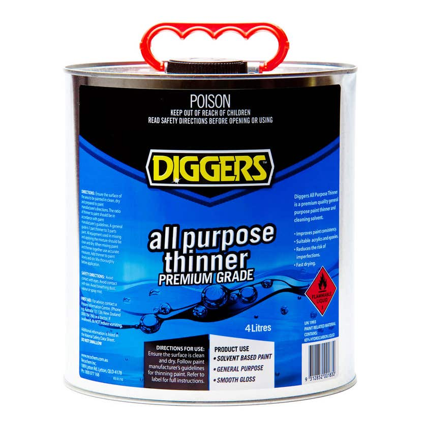 Diggers All Purpose Thinner 4L
