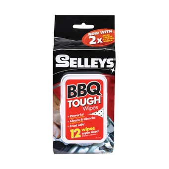 Selleys BBQ Tough Wipes - 12 Pack