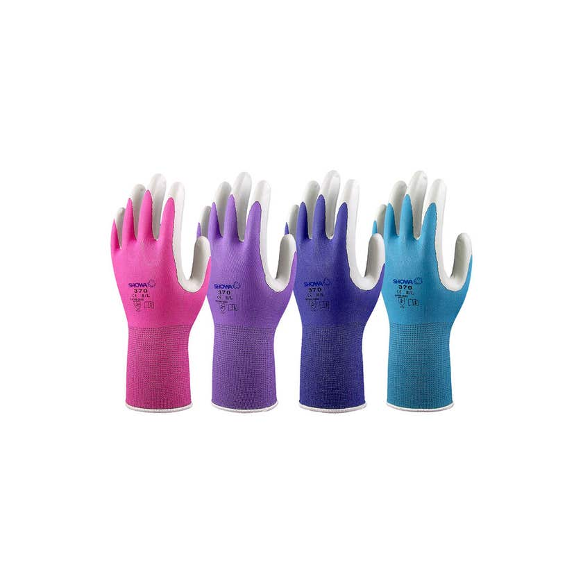 Showa Gardening Gloves Medium Colours 370