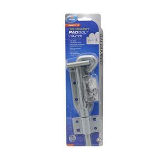 Zenith High Security Double Eye Padbolt 200mm - 1 Pack