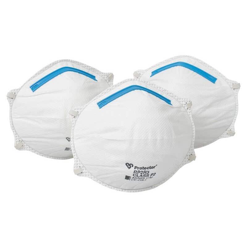 Protector Disposable Respirators - 3 Pack
