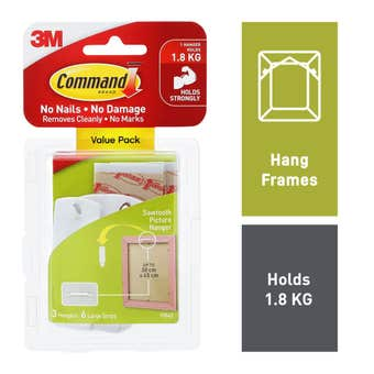 Command Sawtooth Picture Hangers - 3 Pack