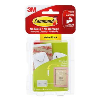 Command Wire-Backed Picture Hangers - 3 Pack