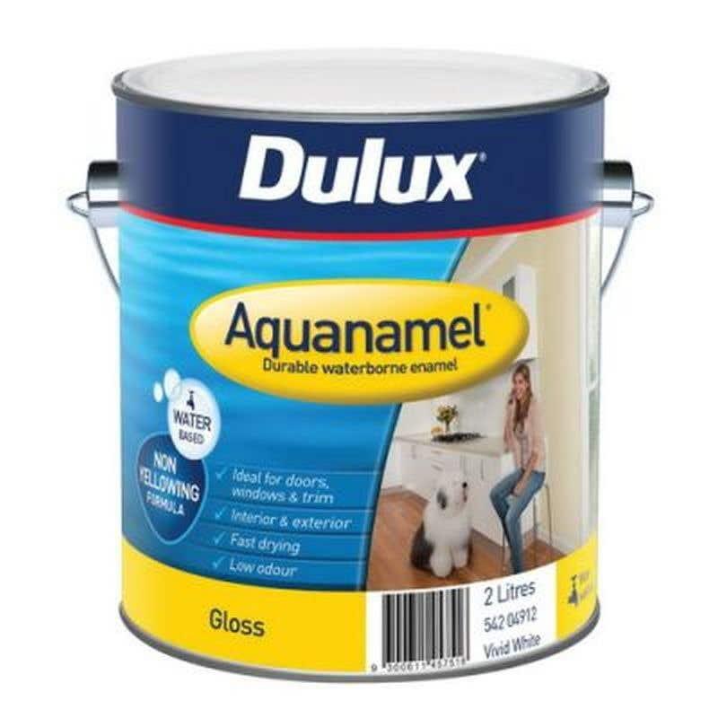 Dulux Aquanamel Gloss Vivid White 2L