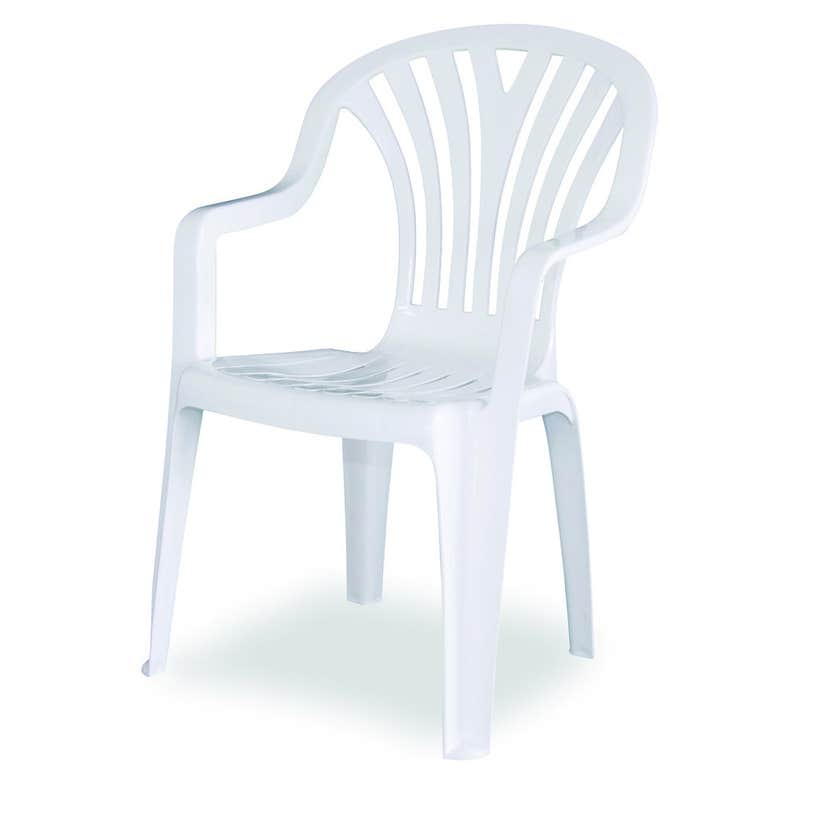 Techno Plastics Resin Chair Chelsea White