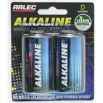 Arlec Alkaline D Battery - 2 pack