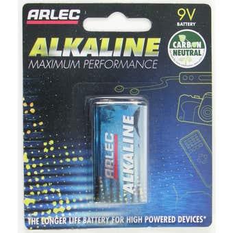 Arlec Alkaline Battery 9V