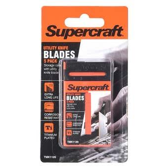 Supercraft Utility Knife Spare Blades 5 Pack