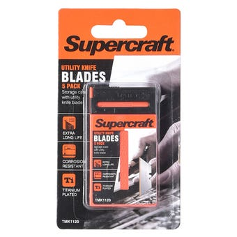 Supercraft Utility Knife Spare Blades 5 Pack