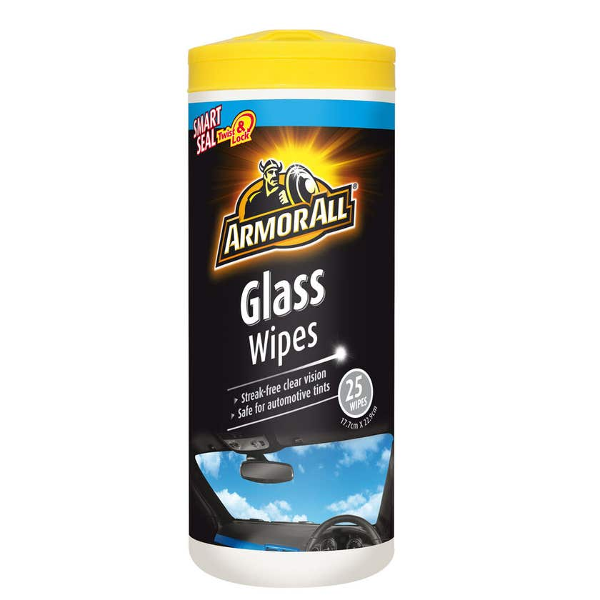 Armor All Glass Wipes - 25 Pack