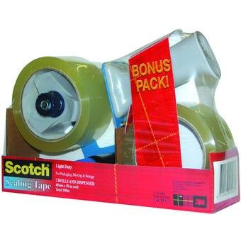 Scotch Value Pack Dispenser + 2 rolls Clear Sealing Tape 48mm x 50m
