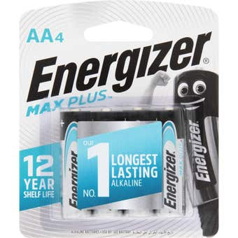 Energizer Max Plus Battery AA - 4 Pack
