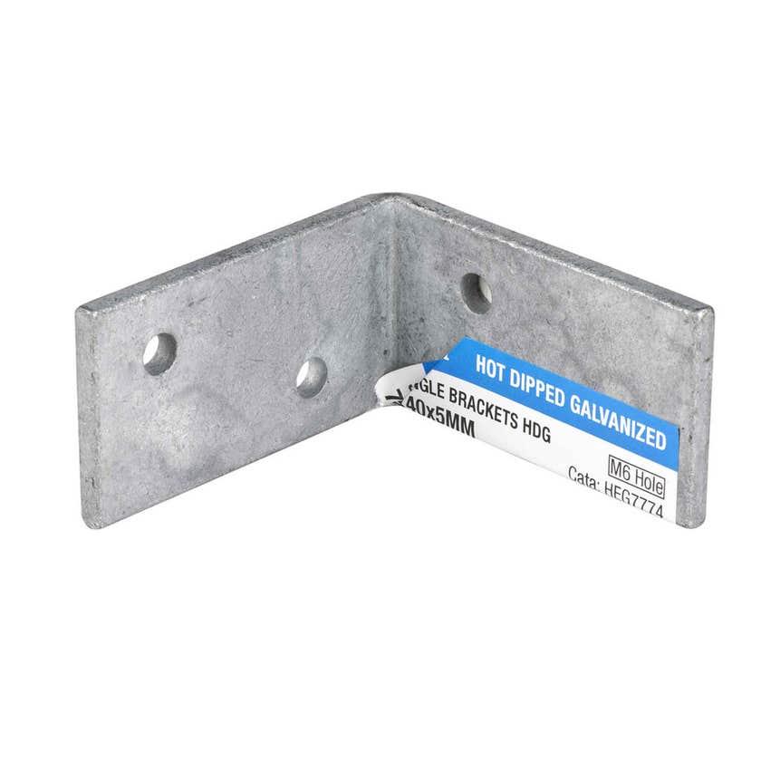 Zenith Sturdy Angle Bracket Galvanised 75 x 75 x 40 x 5mm - 1 Pack