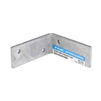 Zenith Sturdy Angle Bracket Galvanised 100 x 100 x 40 x 5mm - 1 Pack