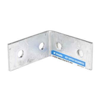 Zenith Sturdy Angle Bracket Galvanised 100 x 100 x 50 x 5mm - 1 Pack