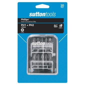 Sutton Tools Screwdriver Insert Bit Set 20 Piece