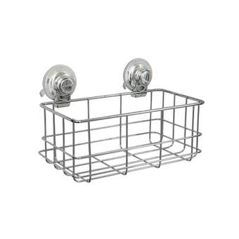 Naleon Classic Chrome Wire Rectangular Basket