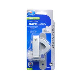 Zenith D Pattern Gate Latch Galvanised - 1 Pack