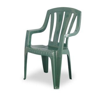 Techno Plastics Waratah Resin Chair Green High Back