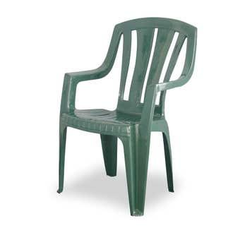 Techno Plastics Waratah Resin Chair Green High Back