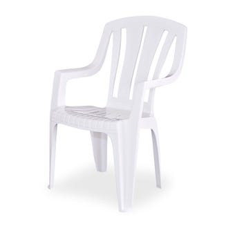 Techno Plastics Waratah Resin Chair White High Back
