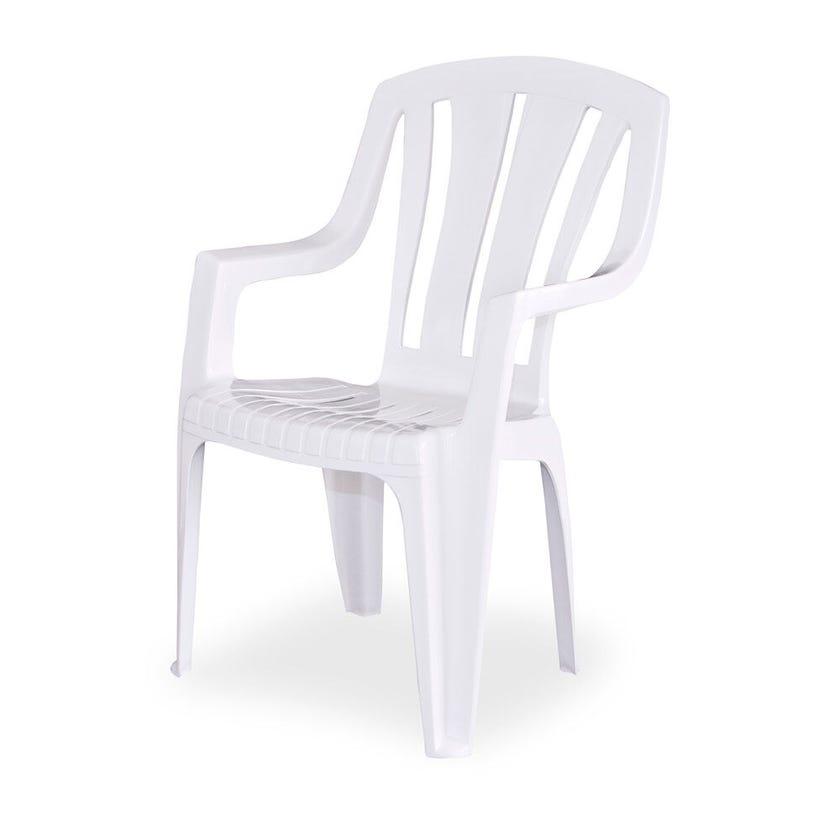Techno Plastics Waratah Resin Chair White High Back