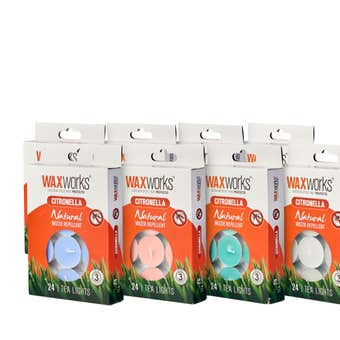 Waxworks Citronella Tea Light Candle - 24 Pack