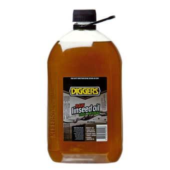 Diggers Raw Linseed Oil 4L