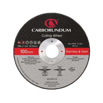Carborundum Cut-Off Wheel 100 x 1 x 16mm - 10 Pk