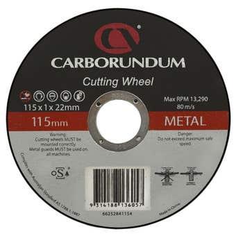 Carborundum Metal Cut-Off Wheel 115 x 1 x 22mm - 10 Pk