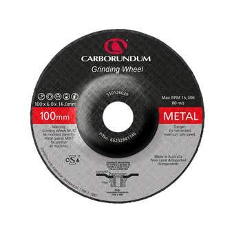 Carborundum Metal Grinding Wheel 100 x 6 x 16mm - 5 Pk
