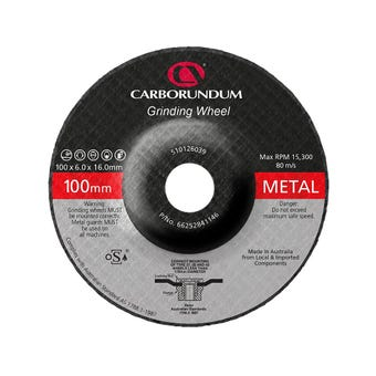 Carborundum Metal Grinding Wheel 100 x 6 x 16mm - 5 Pk
